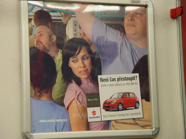 Car Ad in Prague Subway